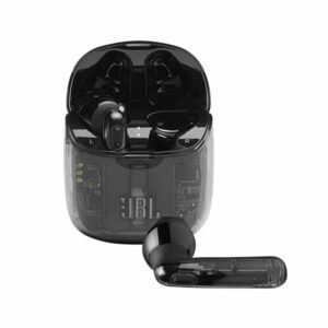 אוזניות אלחוטיות JBL Tune 225 TWS שקוף שחור עם חיי סוללה ארוכים