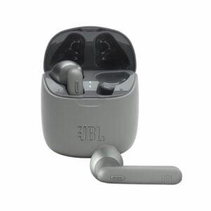 אוזניות אלחוטיות JBL Tune 225 TWS אפור עם חיי סוללה ארוכים