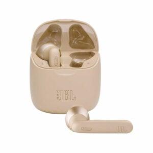 אוזניות אלחוטיות JBL Tune 225 TWS זהב עם חיי סוללה ארוכים
