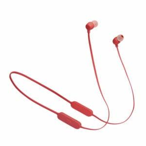 אוזניות אלחוטיות JBL Tune 125BT אדום עם סאונד טהור ונקי