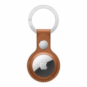כיסוי מקורי ל AirTag מחזיק מפתחות עור AirTag Leather Key Ring