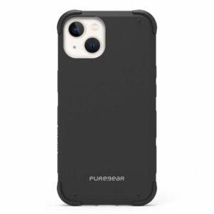 כיסוי לאייפון 13 שחור חזק עם במפרים בולמי זעזועים PureGear DualTek