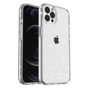 כיסוי לאייפון 13 פרו שקוף נצנצים חזק PureGear DualTek Slim