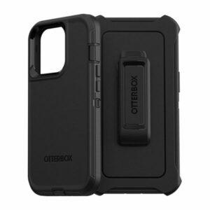 כיסוי לאייפון 13 פרו Otterbox Defender שחור עם קליפס חזק ועמיד במיוחד