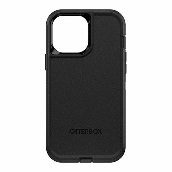כיסוי לאייפון 13 פרו מקס Otterbox Defender שחור עם קליפס חזק ועמיד במיוחד