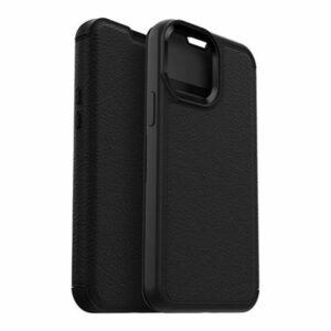 כיסוי ארנק לאייפון 13 פרו מקס Otterbox Strada עור שחור הכיסוי החזק בעולם