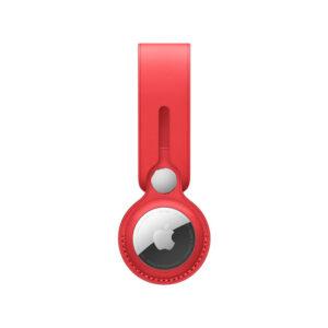 כיסוי ל AirTag מקורי אדום עור AirTag Loop