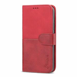 כיסוי לאייפון גלקסי נוט 20 ארנק אדום עם מקום לכרטיסי אשראי Duo Premium