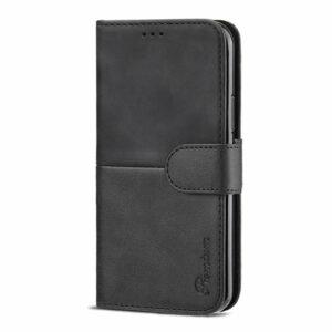 כיסוי לאייפון 12 פרו ארנק שחור עם מקום לכרטיסי אשראי Duo Premium