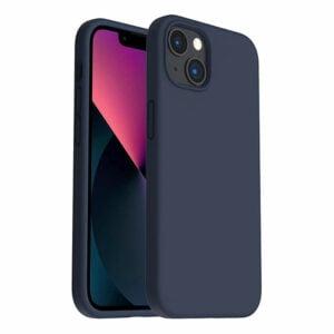 כיסוי לאייפון 13 מיני סיליקון כחול כהה עם מגע קטיפה