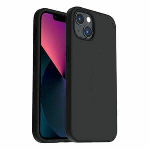 כיסוי לאייפון 13 מיני סיליקון שחור עם מגע קטיפה