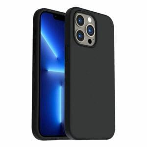 כיסוי לאייפון 13 פרו מקס סיליקון שחור עם מגע קטיפה