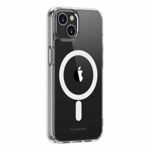 כיסוי לאייפון 13 שקוף עמיד תומך MagSafe מובנה PureGear Slim Shell