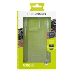כיסוי לאייפון 13 פרו שקוף מגן עם תקן הגנה צבאי PureGear DualTek Slim