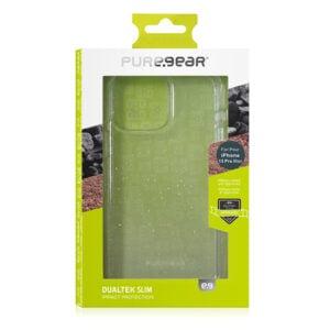 כיסוי לאייפון 13 פרו מקס שקוף נצנצים חזק PureGear DualTek Slim