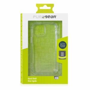 כיסוי לאייפון 13 מיני שקוף קשיח עם במפרים PureGear Hard Shell