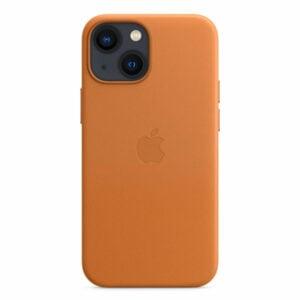 כיסוי לאייפון 13 מיני מקורי חום זהוב עור תומך MagSafe