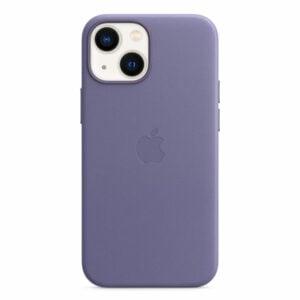 כיסוי לאייפון 13 מיני מקורי עור סגול ויסטריה תומך MagSafe