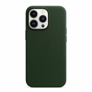 כיסוי לאייפון 13 פרו מקורי עור ירוק סקויה תומך MagSafe