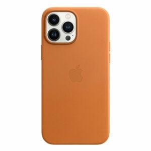 כיסוי לאייפון 13 פרו מקס מקורי חום זהוב עור תומך MagSafe
