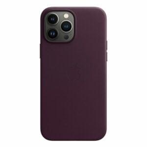 כיסוי לאייפון 13 פרו מקס מקורי דובדבן כהה עור תומך MagSafe