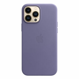 כיסוי לאייפון 13 פרו מקס מקורי עור סגול ויסטריה תומך MagSafe