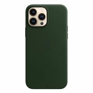 כיסוי לאייפון 13 פרו מקס מקורי עור ירוק סקויה תומך MagSafe