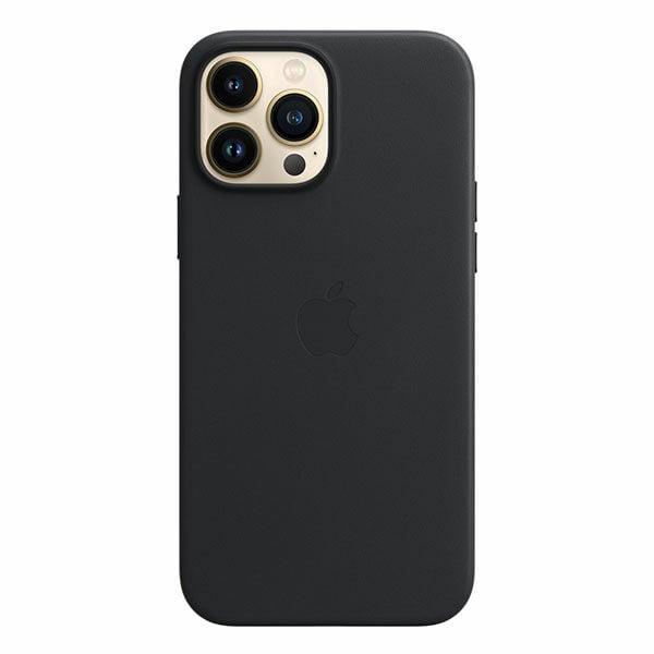 כיסוי לאייפון 13 פרו מקס מקורי עור שחור חצות תומך MagSafe