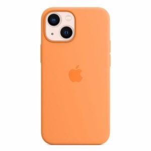 כיסוי לאייפון 13 מיני מקורי כתום מריגולד סיליקון תומך MagSafe