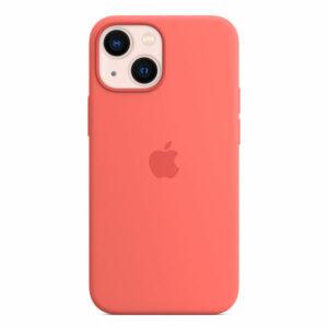 כיסוי לאייפון 13 מיני מקורי ורוד פומלה סיליקון תומך MagSafe