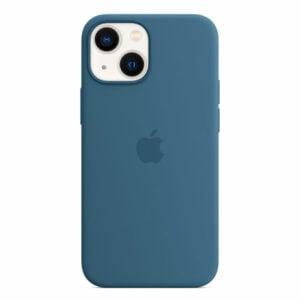 כיסוי לאייפון 13 מיני מקורי כחול עורבני סיליקון תומך MagSafe