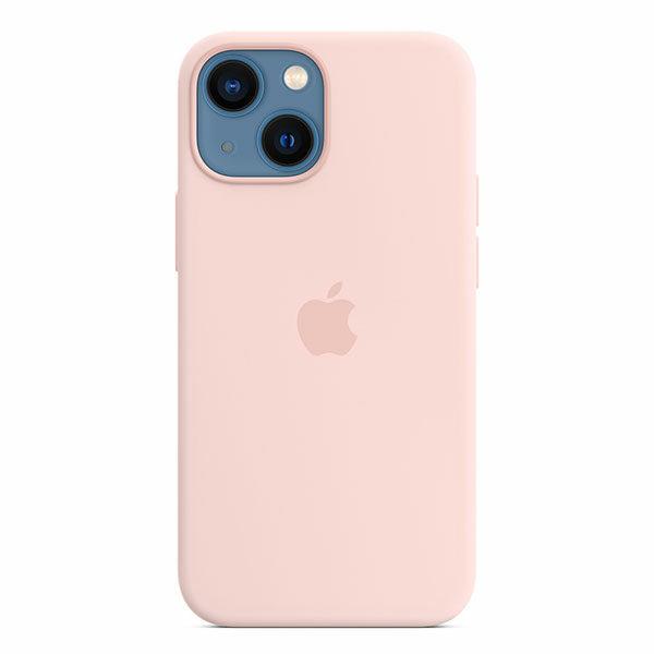 כיסוי לאייפון 13 מיני מקורי ורוד גיר סיליקון תומך MagSafe
