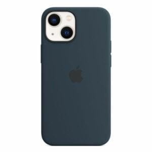 כיסוי לאייפון 13 מיני מקורי כחול תהום סיליקון תומך MagSafe