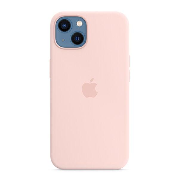 כיסוי לאייפון 13 מקורי ורוד גיר סיליקון תומך MagSafe