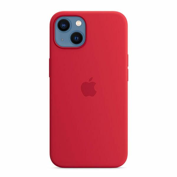 כיסוי לאייפון 13 מקורי אדום Product RED סיליקון תומך MagSafe