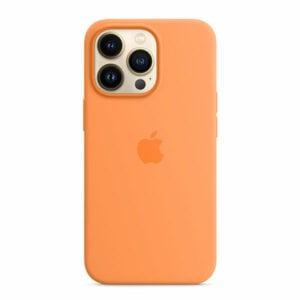 כיסוי לאייפון 13 פרו מקורי כתום מריגולד סיליקון תומך MagSafe