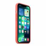 כיסוי לאייפון 13 פרו מקורי ורוד פומלה סיליקון תומך MagSafe