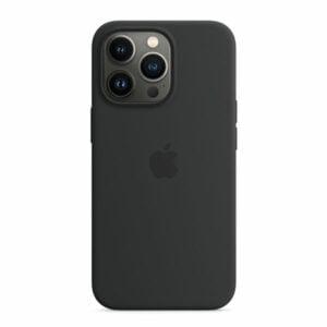 כיסוי לאייפון 13 פרו מקורי שחור חצות סיליקון תומך MagSafe