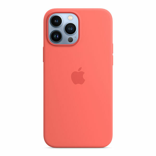כיסוי לאייפון 13 פרו מקס מקורי ורוד פומלה סיליקון תומך MagSafe