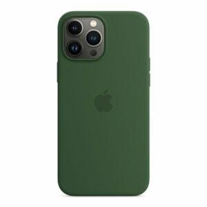 כיסוי לאייפון 13 פרו מקס מקורי ירוק תלתן סיליקון תומך MagSafe