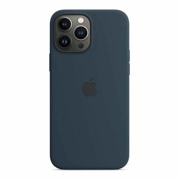 כיסוי לאייפון 13 פרו מקס מקורי כחול תהום סיליקון תומך MagSafe