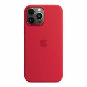 כיסוי לאייפון 13 פרו מקס מקורי אדום Product RED סיליקון תומך MagSafe