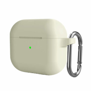 מגן לאיירפודס 3 לבן עתיק סיליקון עם תופסן Target Case