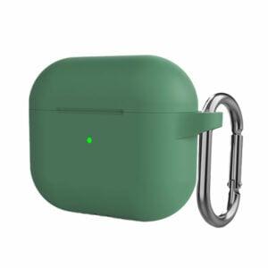 כיסוי ל-AirPods 3 ירוק סיליקון עם תופסן Target Case