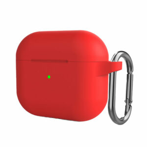 כיסוי לאיירפודס 3 אדום סיליקון עם תופסן Target Case