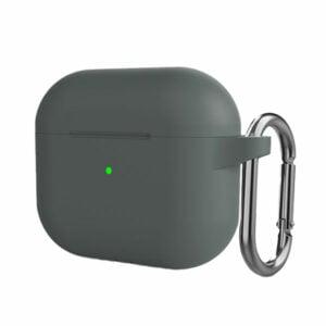 מגן ל-AirPods 3 אפור סיליקון עם תופסן Target Case