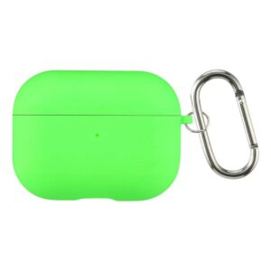 כיסוי סיליקון לאיירפודס פרו ירוק זוהר מגיע עם שאקל חומר חזק ואיכותי