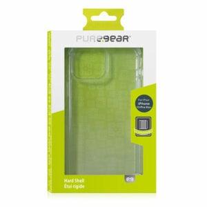 כיסוי לאייפון 13 פרו מקס שקוף קשיח עם במפרים PureGear Hard Shell