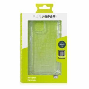 כיסוי לאייפון 13 שקוף קשיח עם במפרים PureGear Hard Shell