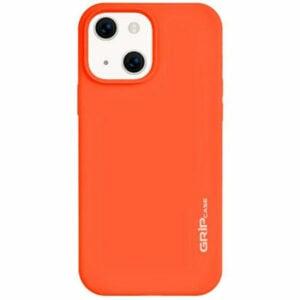מגן לאייפון 13 כתום סיליקון עם מגנט מובנה Grip Case